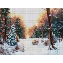 Авторский набор для вышивки бисером - Токарева А. - В зимнем лесу 46-3072-НЗ
