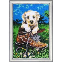 Набор для вышивки бисером - Butterfly - №611 Шаловливый щенок