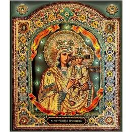 Вышивка бисером икон - Образа в каменьях - Богородица Споручница Грешных 7722