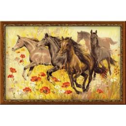 Табун лошадей - РИОЛИС - набор для вышивки крестом