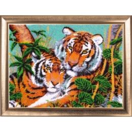 Набор для вышивки бисером - Butterfly - №607 Тигры в джунглях
