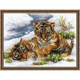 Набор для вышивки крестом - РИОЛИС - 1564 Тигрята в снегу