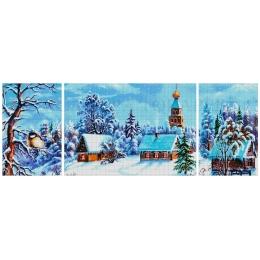 Авторский набор для вышивки бисером - Токарева А. - Зимняя сказка (триптих) 44-3737-НЗТ