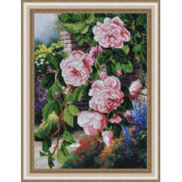 Цветы в саду - Картины бисером - набор для вышивки бисером