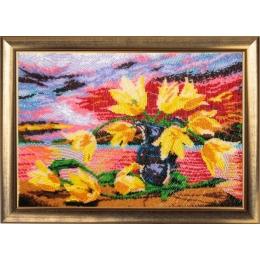 Набор для вышивки бисером - Butterfly - №234 Желтые тюльпаны