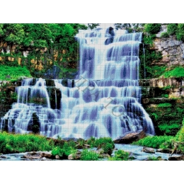 Авторский набор для вышивки бисером - Токарева А. - Водопад в лесу 46-3072-НВ