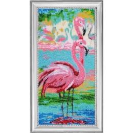 Набор для вышивки бисером - Butterfly - №523 Вечерние фламинго (по картине О. Дарчук)