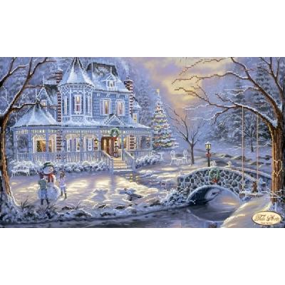 Схема вышивки бисером - Тэла Артис - Викторианское рождество