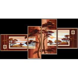 В лучах заката - Нова Слобода - схема вышивки бисером