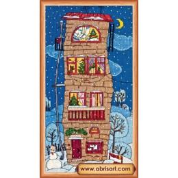 Набор для вышивки крестом - Абрис Арт - Зимний домик