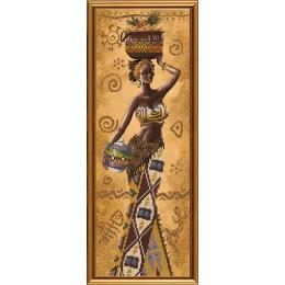 Набор для вышивки бисером - Нова Слобода - НД2078 Африканка с фруктами