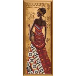 Набор для вышивки бисером - Нова Слобода - НД2076 Африканка с кувшином