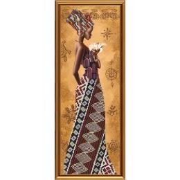 Набор для вышивки бисером - Нова Слобода - НД2077 Африканка с лилией