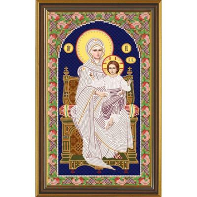 Икона Богородица на Престоле - Нова Слобода - вышивка бисером икон