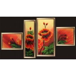 Маки (полиптих из 4 частей) - Butterfly - набор для вышивки бисером