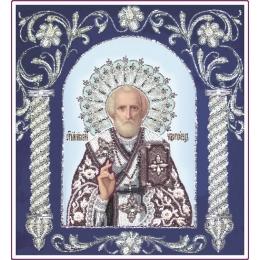 Вышивка бисером икон - Изящное рукоделие - Икона СВЯТИТЕЛЬ НИКОЛАЙ (в рамке)