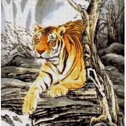 Авторский набор для вышивки бисером - Токарева А. - Тигр в горах 32-2627-НТ