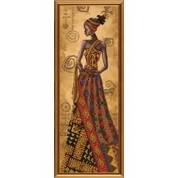 Набор для вышивки бисером - Нова Слобода - НД2079 Загадочная африканка
