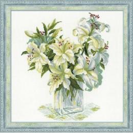 Набор для вышивки крестом - РИОЛИС - 1169 Белые лилии