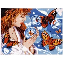 Набор для вышивки крестом - Алисена - Фантазия с бабочками 1182а