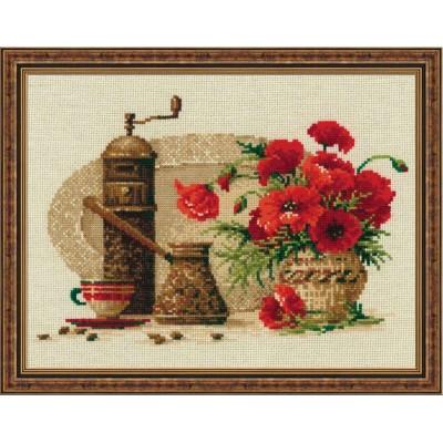 Набор для вышивки крестом - РИОЛИС - Кофе