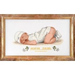 Метрика Малыш - Алисена - набор вышивки крестом
