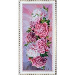 Розовые пионы - Картины бисером - набор для вышивки бисером