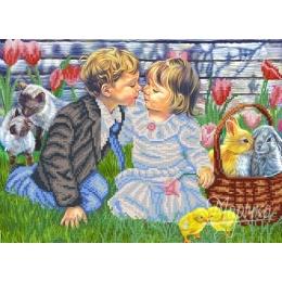 Первый поцелуй - Маричка ТМ - схема вышивки бисером