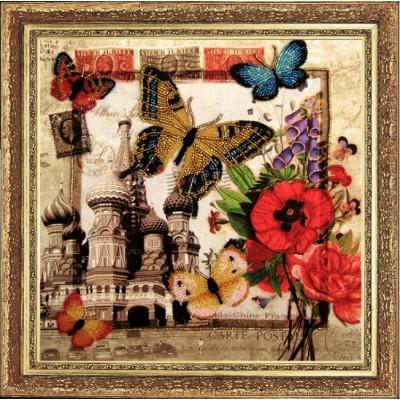 Набор для вышивки бисером - Butterfly - №113 Привет из России