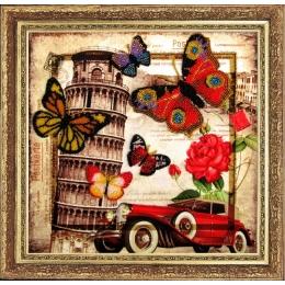 Привет из Италии - Butterfly - набор для вышивки бисером