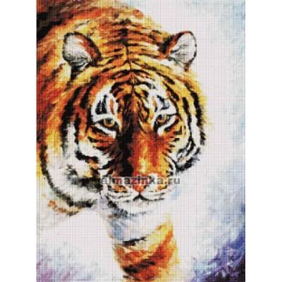 Набор для рисования камнями ST-156 Тигр на снегу