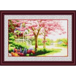 Набор для рисования камнями TP010 Весенний сад (холст)