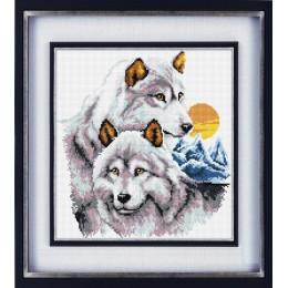 Набор для рисования камнями ТТ003 Волки (холст)