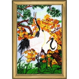 Набор для вышивки бисером - Butterfly - ЖУРАВЛИ №513