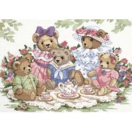 Набор для вышивки крестом - Classic Design - 4345 Чайная вечеринка