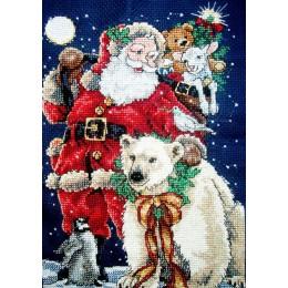 Набор для вышивки крестом - Classic Design - 4375 Санта с друзьями