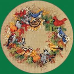 Набор для вышивки крестом - Classic Design - 4386 Осенний венок