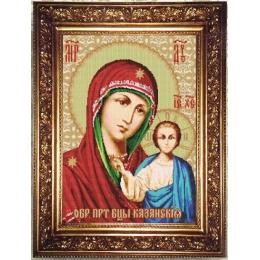 Образ Пресвятой Богородицы Казанская - Арт Соло - набор для бисероплетения икон