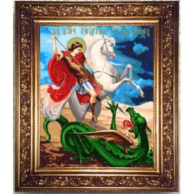 Набор для бисероплетения ГЕОРГИЙ ПОБЕДОНОСЕЦ, иконы, Арт Соло (Украина)