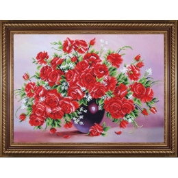 Миллион алых роз - Магия канвы - набор для вышивки бисером
