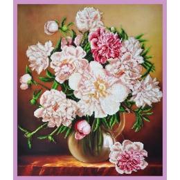 Белый букет - Картины бисером - набор для вышивки бисером
