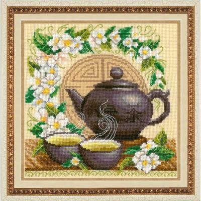 Зеленый чай - Золотые ручки - набор вышивки крестом