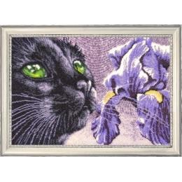 Набор для вышивки бисером - Butterfly - Фиолетово-черный