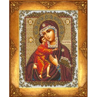 Вышивка бисером икон - Русская искусница - №390 Икона Богородица Феодоровская