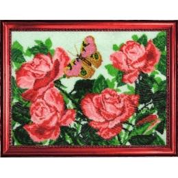 Бабочки и розы - Butterfly - набор для вышивки бисером