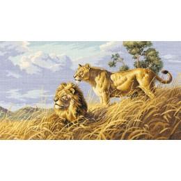 Львы в саванне - Classic Design - набор для вышивки крестом
