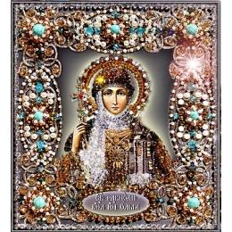 Вышивка бисером икон - Образа в каменьях - Святая Ольга