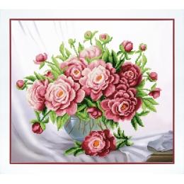 Розовые пионы - Чарівна Мить - набор вышивки бисером