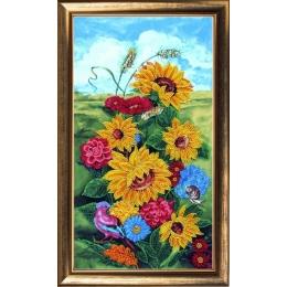 Набор для вышивки бисером - Butterfly - №295 Осень. Подсолнухи