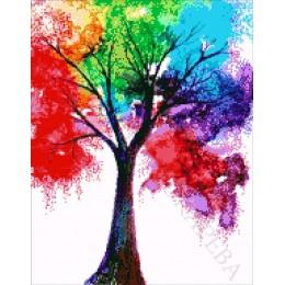 Авторский набор для вышивки бисером - Токарева А. - Радужное дерево 49-980-НР